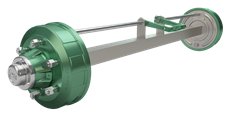 Axle With Brake
